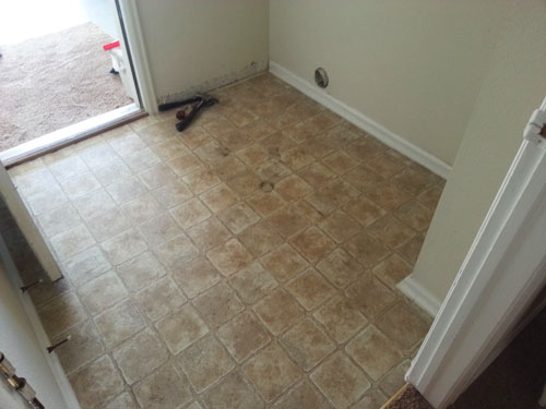 Laundry room, replacing vinyl flooring