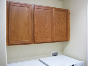 Installed & Finished Wall Laundry Room Storage Cabinets