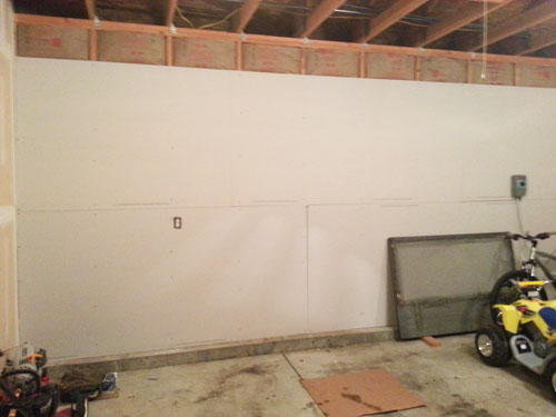 Finishing the garage walls