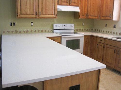 (Celeste) White Quartz Kitchen Countertops
