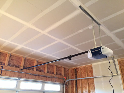 Chamberlain garage door opener installed