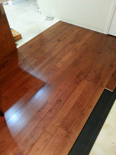 Which way to install your hardwood floor - perpendicular to your floor joists
