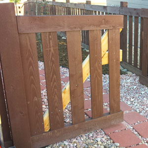 how to add a gate to an existing wood fence