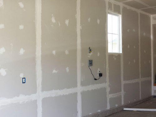 Drywall in garage
