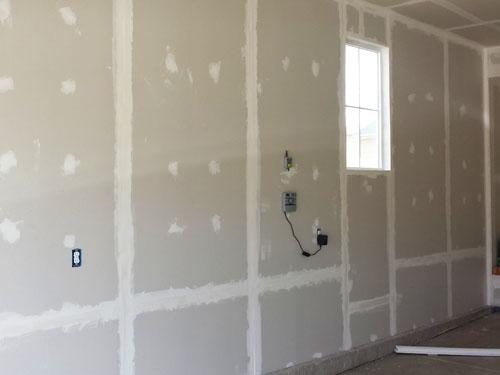 Drywall in garage