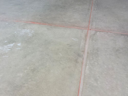 Preparation for Porcelain tile garage floor