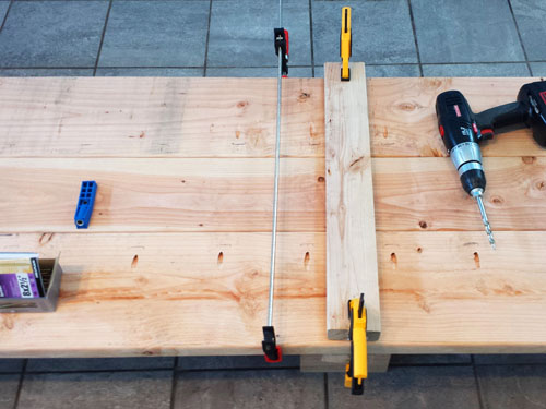 how to build a solid wood desktop using framing lumber
