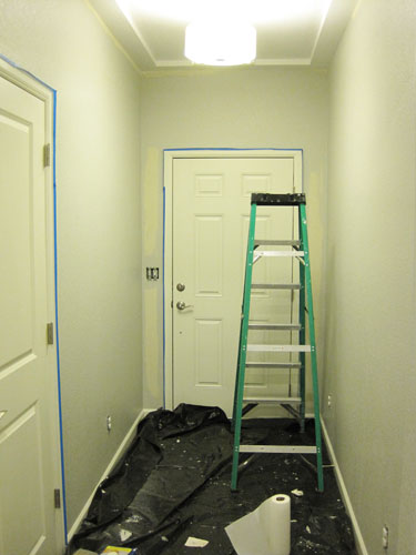 Painted hallway walls