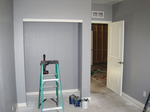Closet sliding doors installation