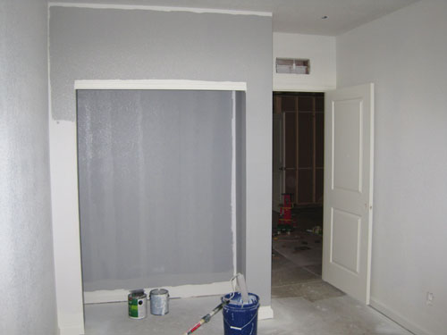 Painting new basement bedroom and bathroom