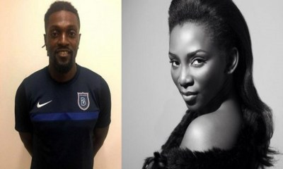 Hmm! Emmanuel Adebayor Warms Up On Genevieve Nnaji 6