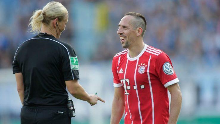 Ribery Cheekily Unties Bibiana Steinhaus's Bootlace Moments Before Smashing In A Free-kick 7