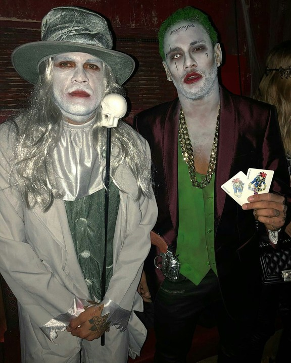 Neymar Jr Dresses As Joker For Halloween 9