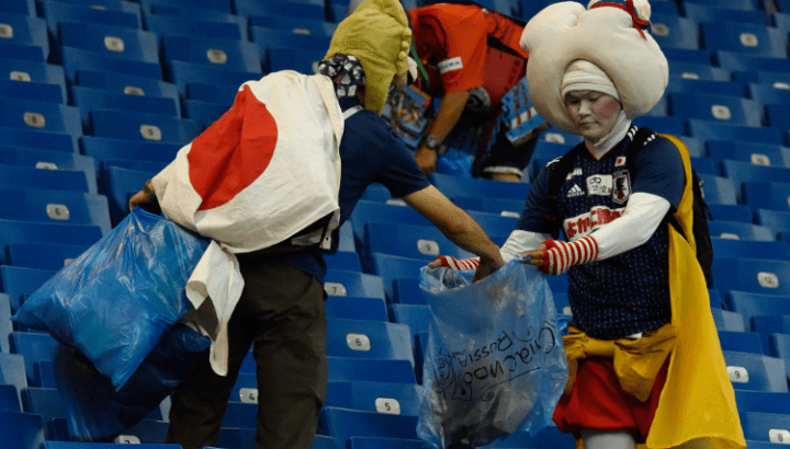 """Russia 2018: Japan Leaves Dressing Room Spotless With A """"Thank You"""" Note 7"""