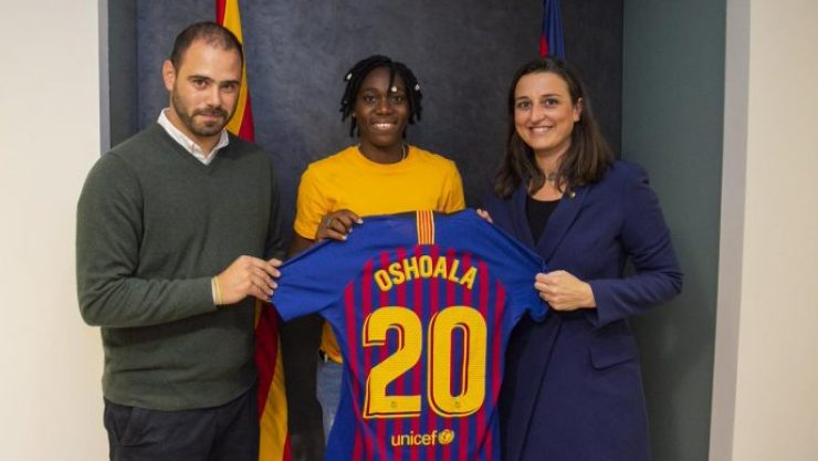 Official: Barcelona Secure The Signing Of Super Falcon Forward 7