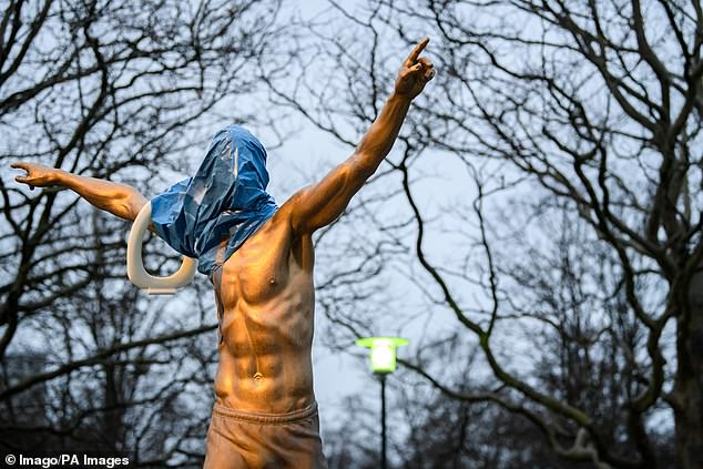Furious Malmo Fans Vandalized Zlatan Ibrahimovic's House, Deface His Statue 3