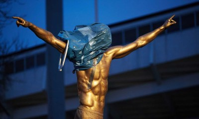 Furious Malmo Fans Vandalized Zlatan Ibrahimovic's House, Deface His Statue 2