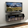 Broadway Black Wall Mounted Under-TV Media Console for $156 + Shipping