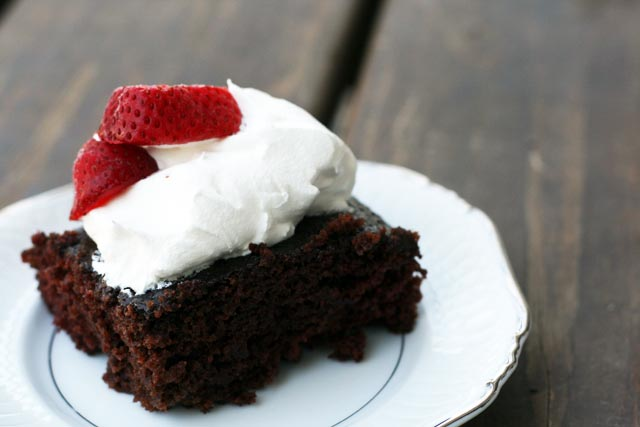 Wacky cake: A very old recipe that doesn't disappoint. My go-to chocolate cake recipe!