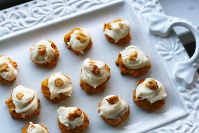 Moist pumpkin cookies with cream cheese frosting recipe from Cheap Recipe Blog