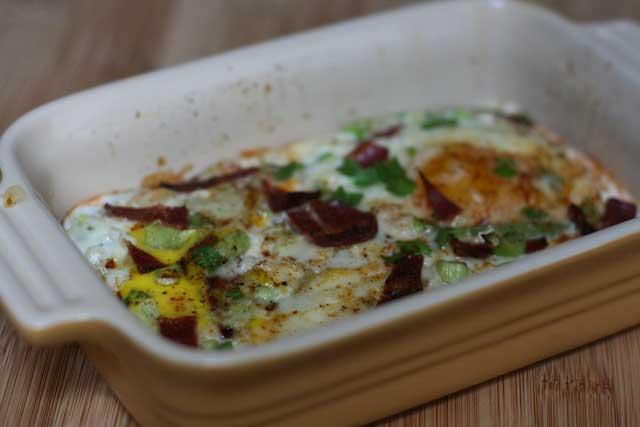 Tobasco baked eggs