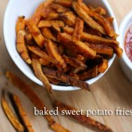 Baked sweet potato fries: Make your own sweet potato fries at home for right around $1.00 per serving.