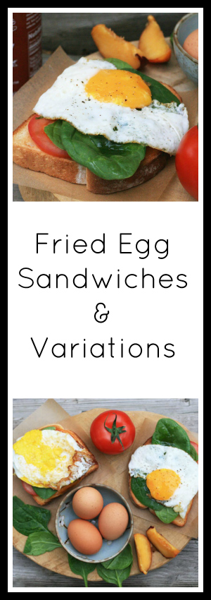 Dinner in 5 minutes: Fried egg sandwiches. The basic recipe and variations too!