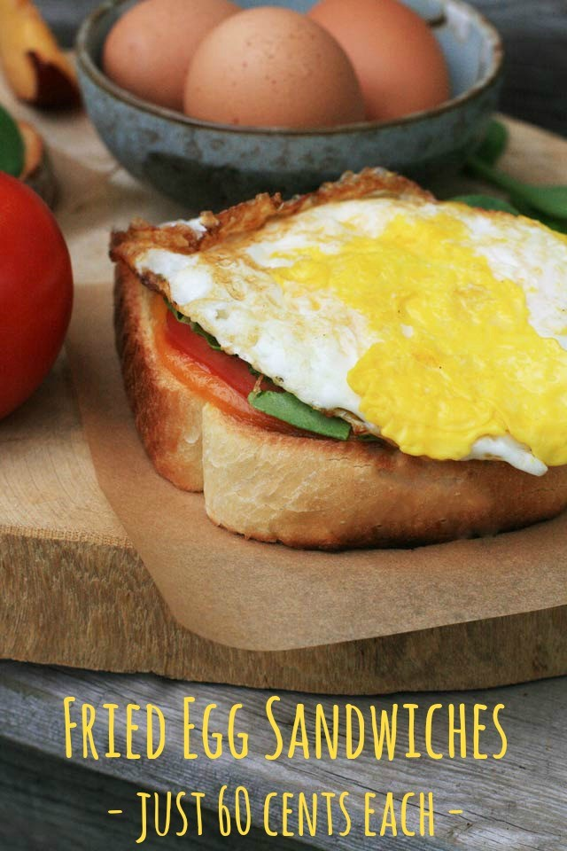 Fried egg sandwiches: Just 60 cents each. Get the recipe!