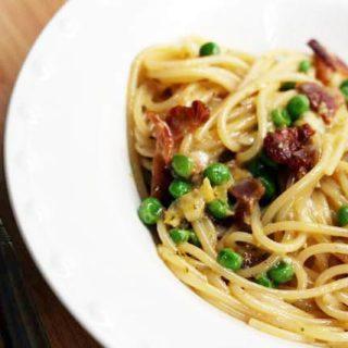 Pasta carbonara recipe, from Cheap Recipe Blog