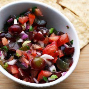 Grape salsa: A creative fruit-based salsa that's addictive and super easy to make.