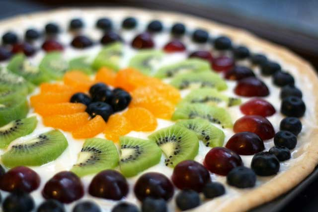 Fruit pizza: The classic recipe, with instructions for homemade crust as well as from-scratch crust.
