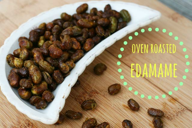 Oven-roasted edamame recipe from Cheap Recipe Blog