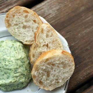Herb butter: Adding fresh herbs to butter makes a delicious topping for bread, potatoes, and much more!