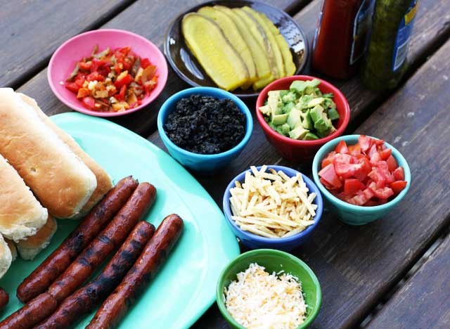 Make your own gourmet hot dog bar
