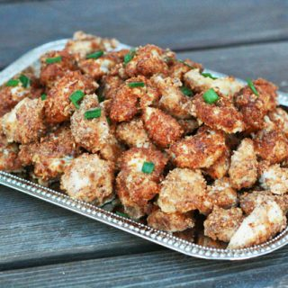 Parmesan Almond-Crusted Chicken Bites