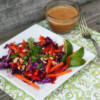 Thai Peanut Cabbage Slaw