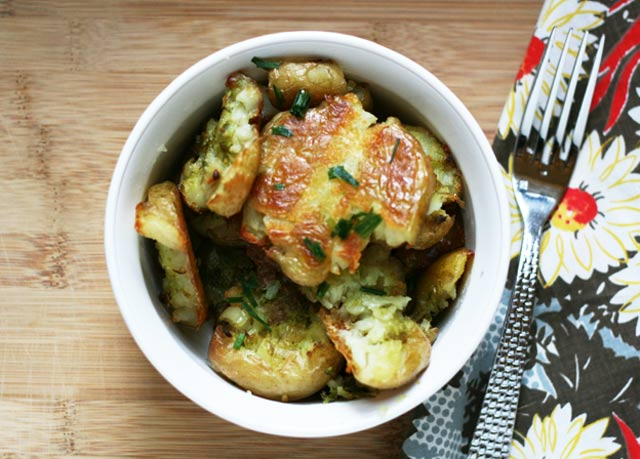 Crispy smashed potatoes recipe