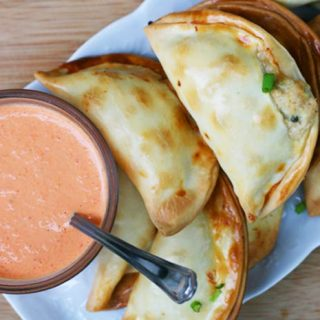 Turkey empanadas: A delicious way to use up leftover Thanksgiving turkey! Click through for recipe.