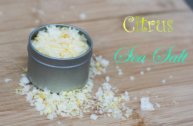 Gift-worthy recipes from Cheap Recipe Blog: Citrus sea salt