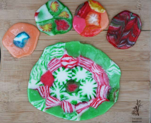Melted Christmas candy ornaments - The finished product