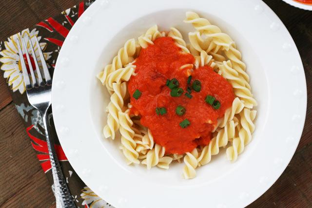 Amazing 3-ingredient pasta sauce recipe. Marcella Hazan recipe. Click through for recipe.