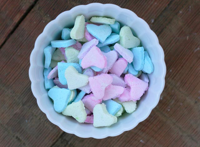 Homemade candy hearts recipe