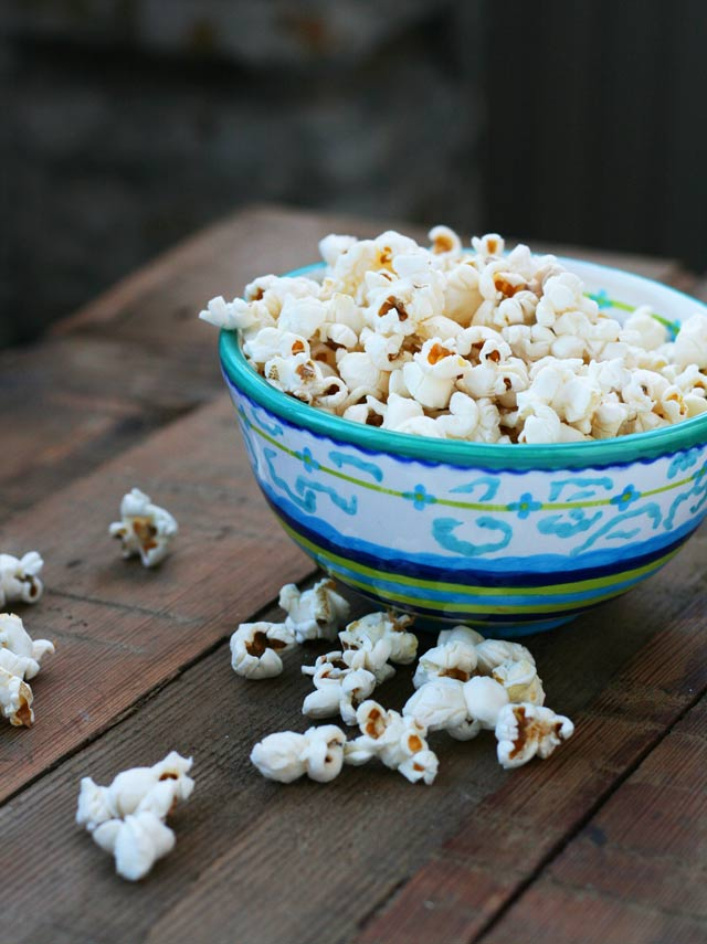 Sea salt popcorn recipe