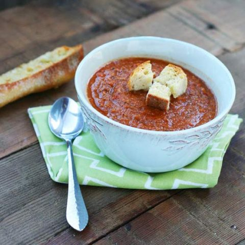 Tomato and lentil soup recipe: A super cheap soup recipe that feeds a crowd!