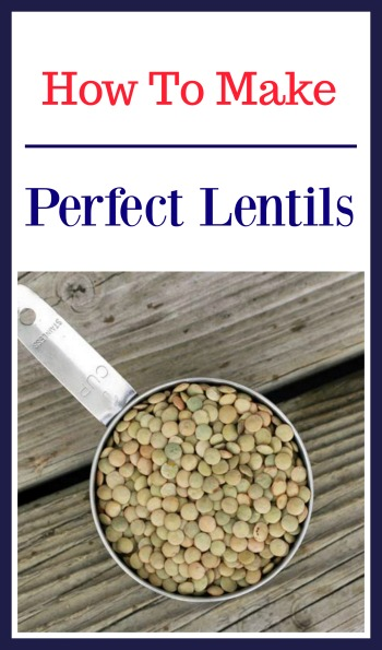 How to make a perfect batch of lentils. Click through for instructions!