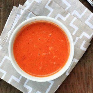 A slightly spicy tomato soup recipe