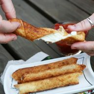 Wonton wrapper mozzarella sticks recipe
