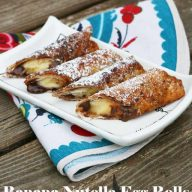 Banana-Nutella egg rolls. Hands down my favorite dessert recipe ever!! These things are perfect.
