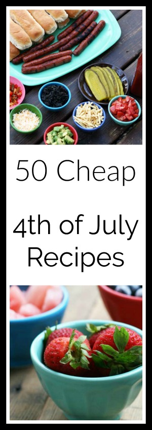 Get 50 cheap recipes for the 4th of July!
