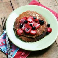 Beer Pancakes With Macerated Strawberries And Blueberries